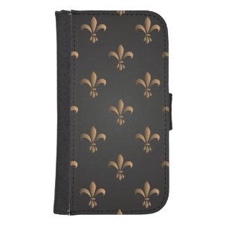 Fleur de lis, vintage,elegant,chic.classy,pattern, samsung s4 wallet case