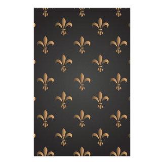 Fleur de lis, vintage,elegant,chic.classy,pattern stationery