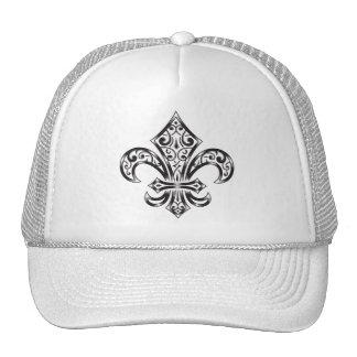 Fleur de Lis Vintage Scroll Trucker Hat