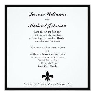 Fleur de Lis Wedding Card