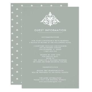 Fleur-de-lis Wedding Guest Information Cards
