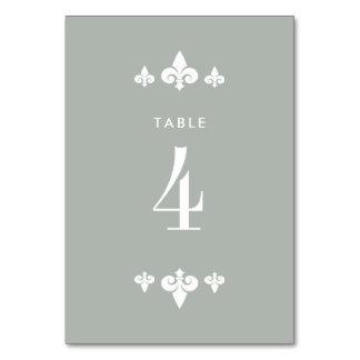 Fleur-de-lis Wedding Table Number Cards