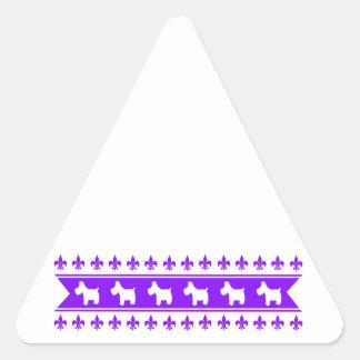 Fleur-de-lis Westies Stickers