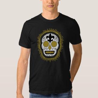 Fleur De Lis Whodoo Sugar Skull T Shirt