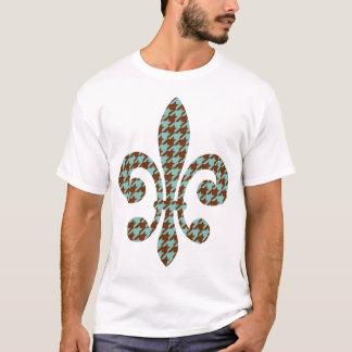 fleur de lis with houndstooth T-Shirt