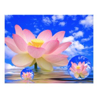 Fleur de Lotus soutenue dans l'eau Prospectus Customisé