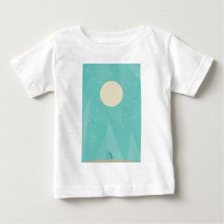 Fleur de lune t-shirt pour bébé