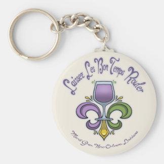 Fleur de Lush Basic Round Button Keychain