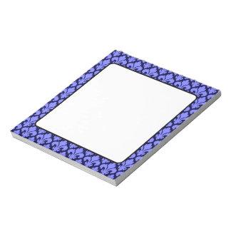 Fleur-de-Lys Blue Notepad