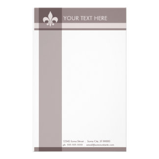 fleur de lys customized stationery