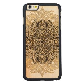 Fleur de Swirl Carved Maple iPhone 6 Plus Case
