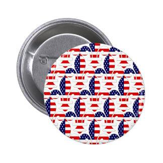 Fleur de USA 2 Inch Round Button