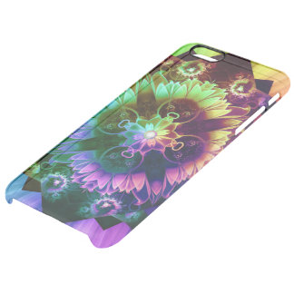 Fleur des Vents, Rainbow Fractal Flower of Winds Clear iPhone 6 Plus Case
