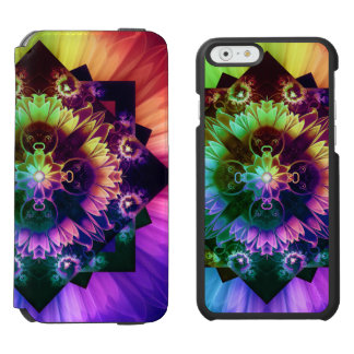 Fleur des Vents, Rainbow Fractal Flower of Winds Incipio Watson™ iPhone 6 Wallet Case