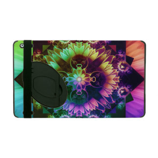 Fleur des Vents, Rainbow Fractal Flower of Winds iPad Cover