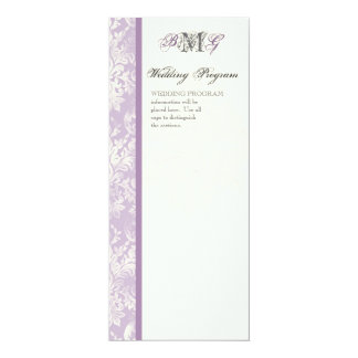 Fleur di Lys Damask - Lilac Wedding Program