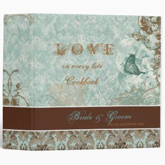 Fleur di Lys Damask - New Bride s Cookbook Binder