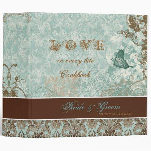 Fleur di Lys Damask - New Bride's Cookbook Binder