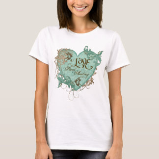 Fleur di Lys Damask T-shirt, Wedding Anniversary T-Shirt