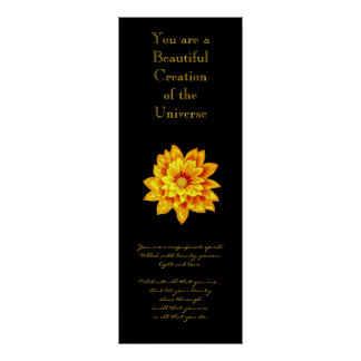 Fleur d'or d'inspiration poster
