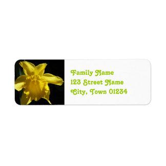 Fleur du Pays de Galles Étiquette D'adresse Retour