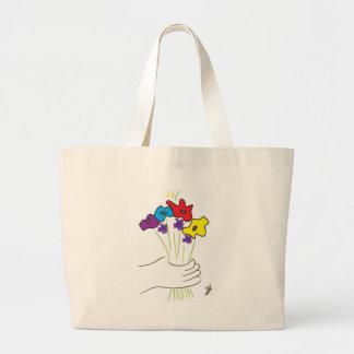fleur fourre-tout sac en toile jumbo