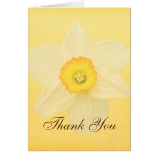 Fleur jaune de jonquille de ressort carte
