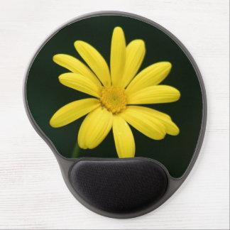 Fleur jaune de marguerite tapis de souris avec gel