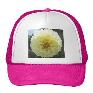 Fleur jaune ensoleillée de dahlia casquette de camionneur