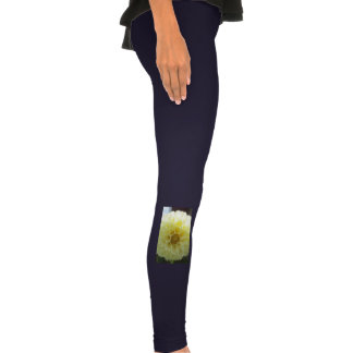 Fleur jaune ensoleillée de dahlia legging