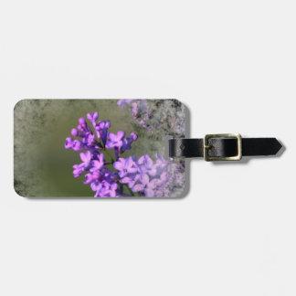 Fleur lilas étiquettes de bagage