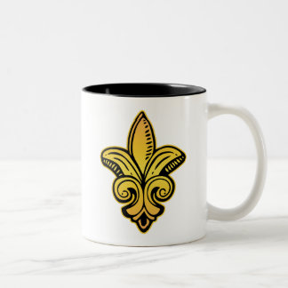 Fleur Medieval - Gold Two-Tone Coffee Mug