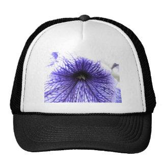 Fleur modelée par veine pourpre casquettes