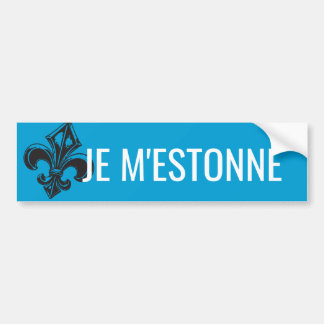 Fleur of lily Quebec I estonne - YOUR TEXT Bumper Sticker