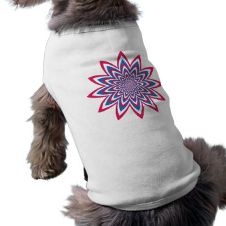 Fleur patriotique d'art op t-shirt pour animal domestique