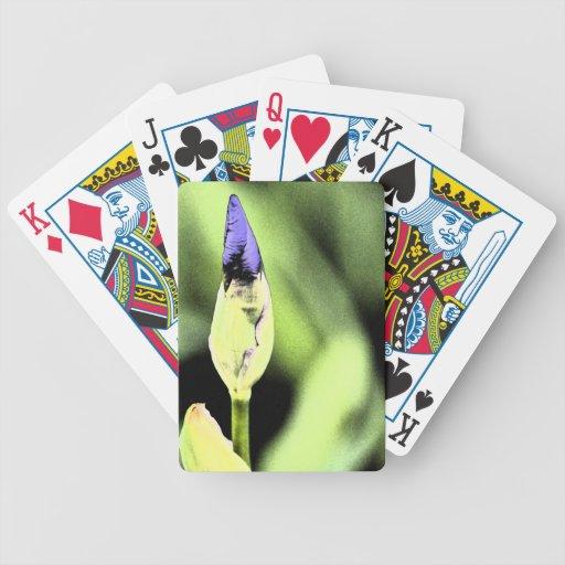 Fleur pourpre d'iris jeu de poker