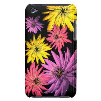 Fleur pourpre jaune rose illustrée coque iPod touch Case-Mate