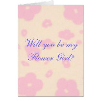 Fleur rose épousant la coutume stationnaire de carte de vœux
