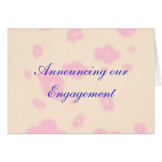 Fleur rose épousant la personnaliser stationnaire carte de vœux