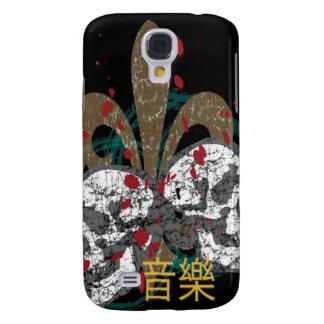 Fleur Skulls iphone 3G Hard Case Galaxy S4 Cases