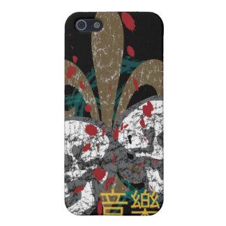 Fleur Skulls iphone 4 Hard Case Case For iPhone 5