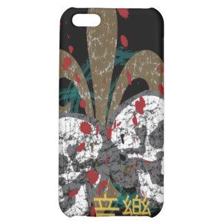 Fleur Skulls iphone 4 Hard Case iPhone 5C Cases