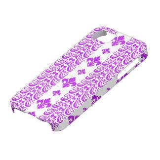Fleur Stripe 1 Purple iPhone 5 Covers
