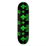 Fleur Stripe 1a Green Skate Board