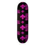 Fleur Stripe 1a Pink Skate Board Deck