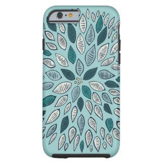 Fleur turquoise de dahlia coque iPhone 6 tough