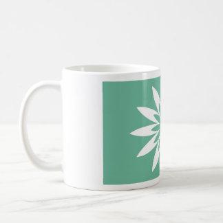 Fleur verte d'étoile tasse