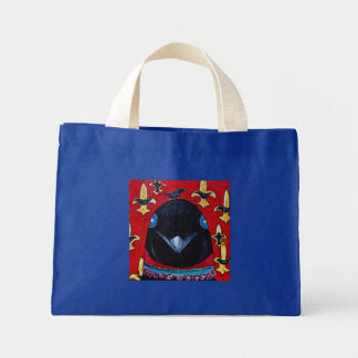 fleurdcrow, corneilles du fleur d sac en toile mini
