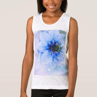 fleurit la fille girly de filles de sourire mignon tshirt