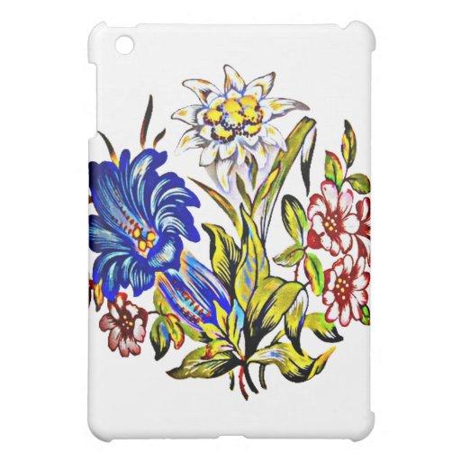 Fleurs alpines étuis iPad mini